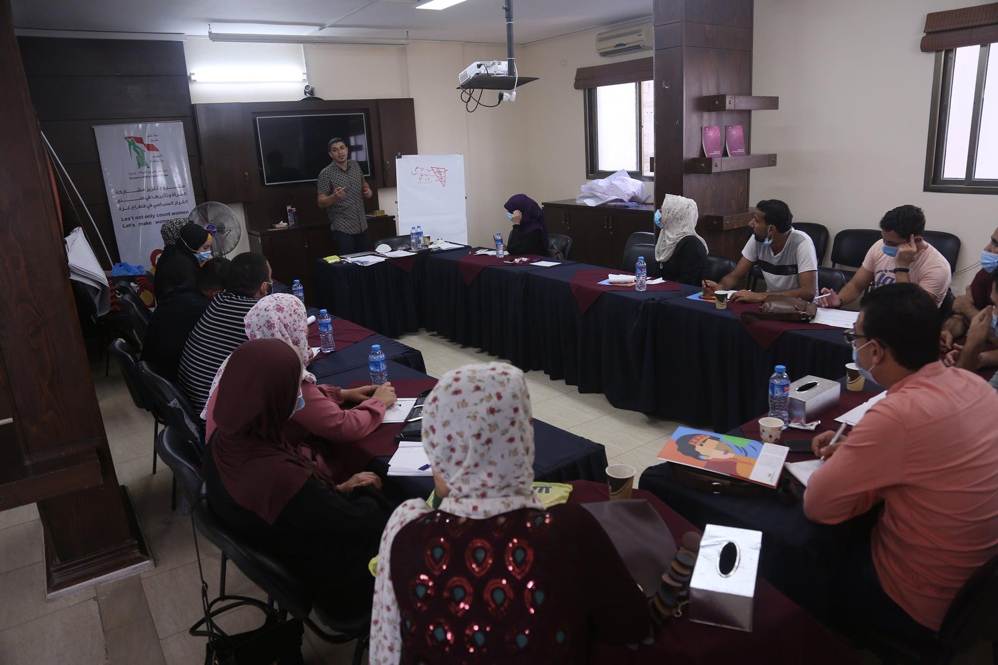 """مركز شؤون المرأة ينفذ تدريباً حول """" التغطية الإعلامية الصديقة لقضايا المرأة""""."""